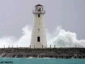 Sat., Sept. 25: Waves crash at the Nassau harbor entrance as Jeanne passes through the island of New Providence, Bahamas.